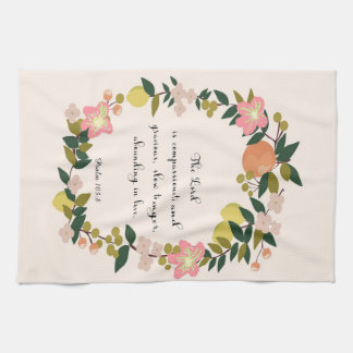 Christian Quote Art - Psalm 103:8 Hand Towel