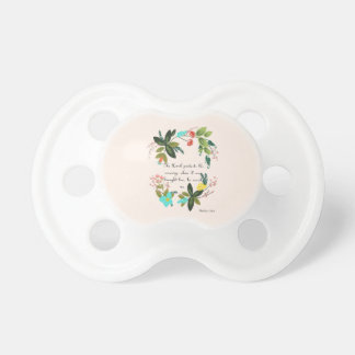 Christian Quote Art - Psalm 116:6 Pacifier