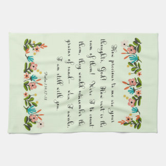 Christian Quote Art - Psalm 139: 17-18 Hand Towel