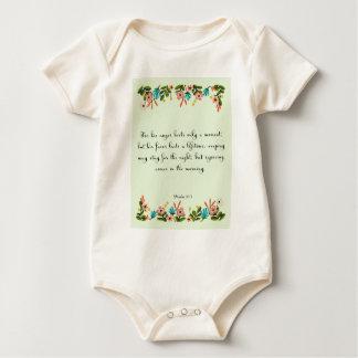 Christian Quote Art - Psalm 30:5 Baby Bodysuit