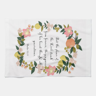 Christian Quote Art - Psalm 33:11 Kitchen Towels