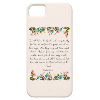 Christian Quote Art - Psalm 37:7-9 iPhone SE/5/5s Case