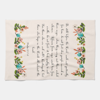Christian Quote Art - Psalm 37:7-9 Hand Towels