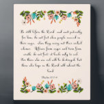 """Christian Quote Art - Psalm 37:7-9 Plaque<br><div class=""""desc"""">Beautiful encouraging Bible Verse. Christian Art! Perfect for any occasion.</div>"""