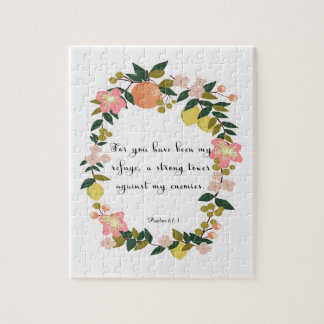 Christian Quote Art - Psalm 61:3 Jigsaw Puzzle