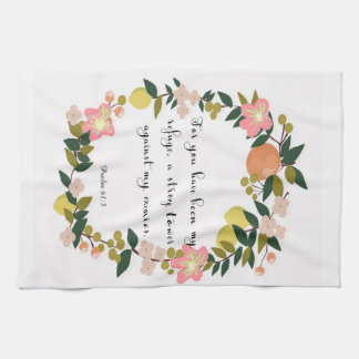 Christian Quote Art - Psalm 61:3 Hand Towel