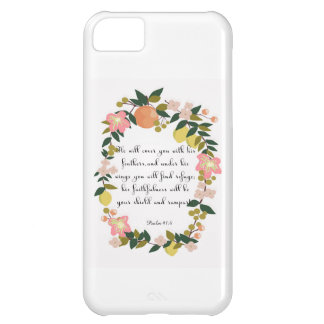 Christian Quote Art - Psalm 91:4 Cover For iPhone 5C