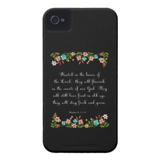 Christian Quote Art - Psalm 92:13-14 iPhone 4 Cover