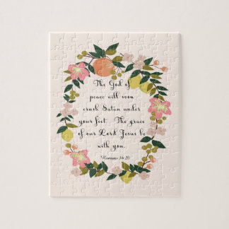 Christian Quote Art - Romans 16:20 Jigsaw Puzzle
