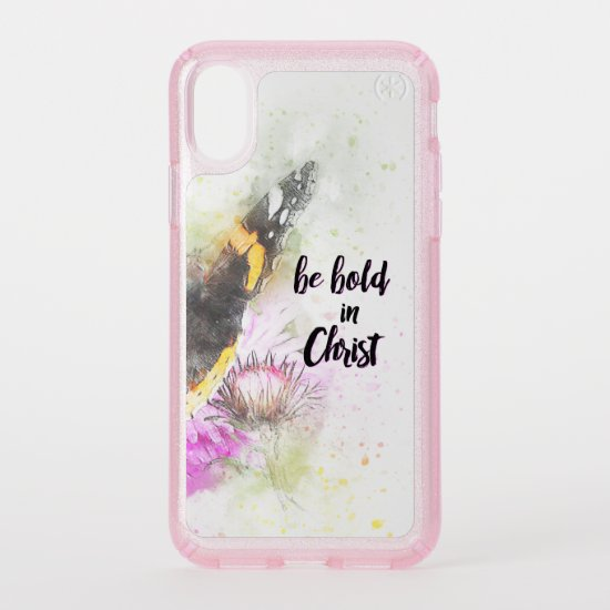 Christian Quote: Be Bold in Christ Speck iPhone X Case