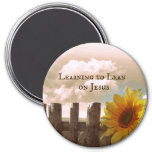 Christian Quote: Learning to Lean on Jesus Refrigerator Magnets