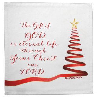 Christian Quote Romans 6:23/Cloth Napkins