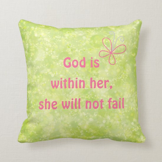 Christian Quote Throw Pillow
