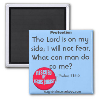 Christian Quotes 2 Inch Square Magnet
