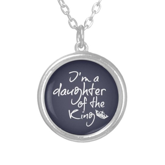 Christian Quotes Daughter Of The King Silver Plated Necklace