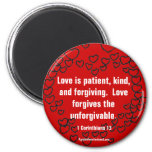 Christian Quotes Inspirational 2 Inch Round Magnet