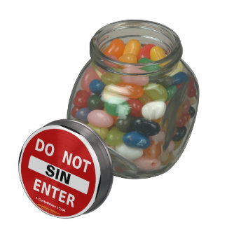 Christian Quotes Inspirational Glass Candy Jars