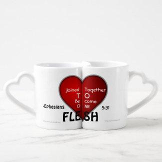 Christian Quotes Couples' Coffee Mug Set