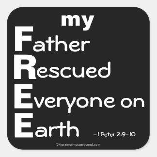 Christian Quotes Square Sticker