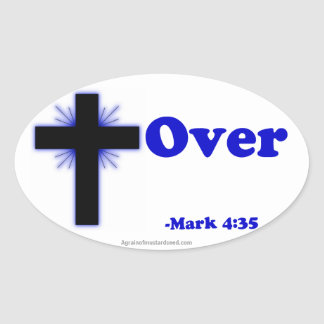 Christian Quotes Oval Stickers
