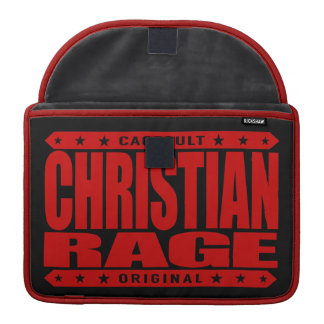 CHRISTIAN RAGE - God Loves Brave Virtuous Fighters MacBook Pro Sleeve