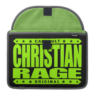 CHRISTIAN RAGE - God Loves Brave Virtuous Fighters Sleeve For MacBook Pro
