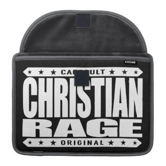 CHRISTIAN RAGE - God Loves Brave Virtuous Fighters Sleeve For MacBooks