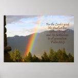 Christian Rainbow Poster, Psalm 100:5 Poster