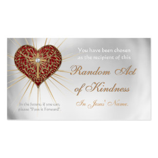 CHRISTIAN Random Acts of Kindness wallet cards Double-Sided Standard Business Cards (Pack Of 100)