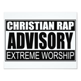 Christian Rap Advisory... Card