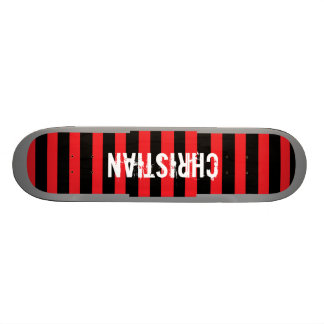 Christian Red and Black Skateboard