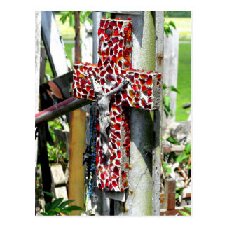 Christian Red Cross Blessings Jesus Postcard