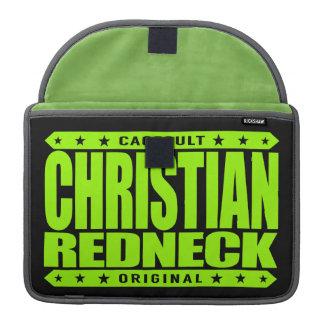 CHRISTIAN REDNECK - God Loves Brave Conservatives MacBook Pro Sleeve