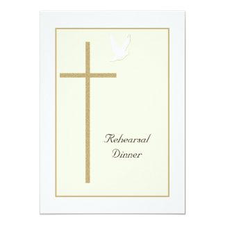 Christian Rehearsal Dinner Invitation -- Cross