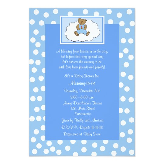 Christian Religious Baby Shower Invitation Blue Zazzle Com