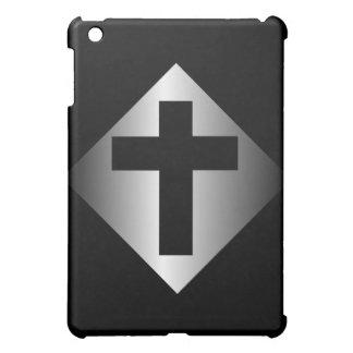Christian Religious Cross Black and Silver iPad Mini Cases