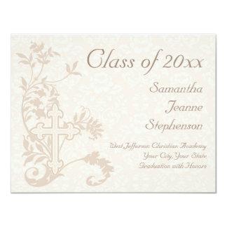 Christian Religious Graduation Announcement, Cream Card