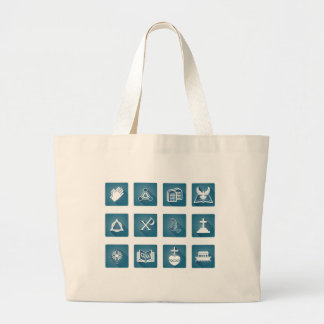 Christian Religious Icons Large Tote Bag