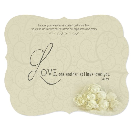 Christian Renewing Wedding Vows Invitation Roses Zazzle Com