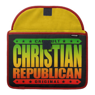 CHRISTIAN REPUBLICAN - God Loves All Conservatives Sleeve For MacBooks