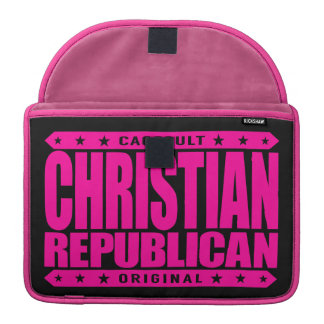 CHRISTIAN REPUBLICAN - God Loves All Conservatives Sleeves For MacBooks