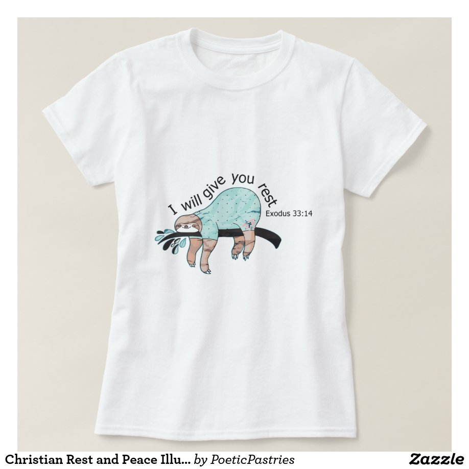Christian Rest and Peace Illustration T-Shirt