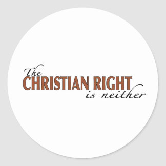Christian Right Classic Round Sticker