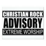 Christian Rock Advisory... 4.25x5.5 Paper Invitation Card