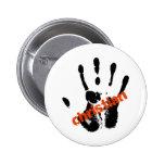 Christian Rouge sur mains noire Button