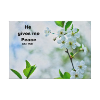 Christian saying, beautiful floral art canvas print