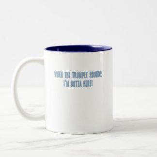 Christian Saying T-shirts and Gifts Two-Tone Coffee Mug