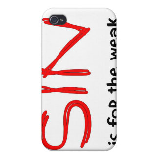 Christian sayings about sin iPhone 4/4S case