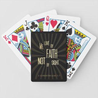 Christian Scriptural Bible 2 Corinthians 5:7 Bicycle Playing Cards