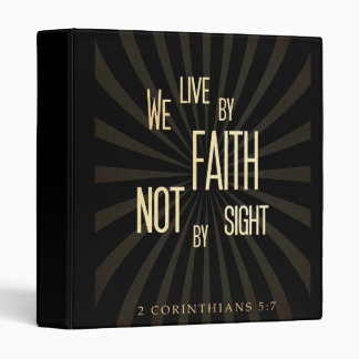 Christian Scriptural Bible 2 Corinthians 5:7 Binder